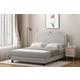 Furinno Twin Davina Nailhead Trim Bed Frame