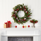 Christmas 28'' Frosted Cypress with Berries and Pine Cones Artificial Wreath