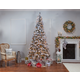 Sterling 9-Foot High Flocked Pre-Lit Hard Mixed Needle Boise Pine with Warm White Lights