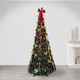 Sterling 7.5-Foot High Pop Up Pre-Lit Green Decorated Pine Tree with Warm White Lights