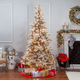 Sterling 7.5Ft. Heavily Flocked Layered Spruce with 550 clear lights
