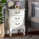 Baxton Studio Gabrielle French Country Provincial 3-Drawer Nightstand