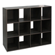 HDS Trading Stackable 12 Open Cube Modern Wood Organizer