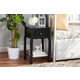 Baxton Studio Hailey Wood 1-Drawer Nightstand