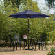 Belmont 9' Outdoor Patio Table Umbrella with Tilt and Crank