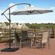Henley 10' Outdoor Cantilever Hanging Patio Umbrella