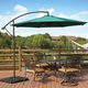 Henley 10' Outdoor Cantilever Hanging Patio Umbrella