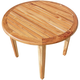 EcoDecors Oasis Round Teak Indoor/Outdoor Dining Table