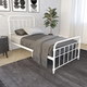 DHP Atwater Living Wyn Twin Metal White Bed