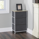 HDS Trading 3 Drawer Fabric Dresser Rolling Storage Cart