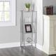 HDS Trading 4 Tier Multi Use Rectangle Glass Corner Shelf