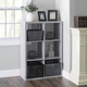 HDS Trading 6 Open Cube Organizing Wood Storage Shelf
