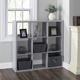 HDS Trading 9 Open Cube Organizing Wood Storage Shelf