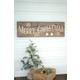 Christmas Merry Christmas Sign On Recycled Wood