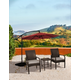 Orson 3-Piece Outdoor Rattan Wicker Modern Seating Set