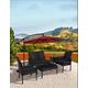 Westin 4-Piece Rattan Wicker Modern Sofa Set