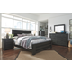 Brinxton King Panel Bed with Dresser Mirror and Nightstand