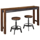Torjin Counter Height Dining Table and 2 Barstools
