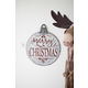 Christmas Painted Metal Merry Christmas Ornament Sign