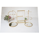 Kalalou Tabletop Jewelry Stand With Mirror Bases (Set of 3)
