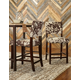 Linon Wes Cow Print Counter Stool