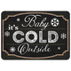 Christmas  Premium Comfort Blackboard Cold Outside 22
