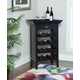 Powell Ava Black and Merlot Wine Cabinet