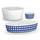 TarHong Melamine Homemade Navy Lidded Bowls (Set of 3)