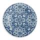 TarHong Melamine Atlantic Blue Medallion Dinner Plate (Set of 6)