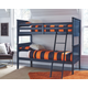 Leo Twin Bunk Bed with Mattress and Pillow