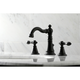 Kingston Brass English Classic Widespread Bathroom Faucet with Drain