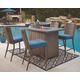 Partanna 5-Piece Outdoor Bar Table Set