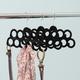 Contemporary Slip-Proof Snag-Free Ten Loop Velvet Scarf Hanger