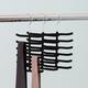 Contemporary Six Tier Non-Slip Velvet Tie Hanger