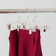 Contemporary Plastic Skirt Hanger with Metal Clips