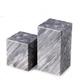 Bey-Berk Gray Marble Cube Design Bookends