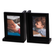 Bey-Berk Black Picture Frame Bookend