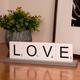 Bey-Berk Love Scrabble Letter Tile Wooden Sign