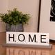 Bey-Berk Home Scrabble Letter Tile Wooden Sign