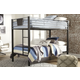 Dinsmore Twin Bunk Bed with Mattress and Pillow