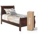 Alisdair Twin Sleigh Bed with Mattress