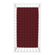 Trend Lab Buffalo Check Red/Black Flannel Fitted Crib Sheet