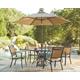 Carmadelia 7-Piece Outdoor Round Dining Set with Umbrella