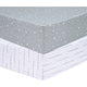 Trend Lab Celestial 2 Pack Microfiber Fitted Crib Sheets
