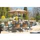 Carmadelia 9-Piece Outdoor Rectangular Dining Set with Umbrella