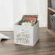 Contemporary Metallic Home Sweet Home Storage Cube