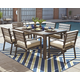 Peachstone 7-Piece Outdoor Rectangular Dining Set