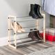 Contemporary Three Tier Expandable Shoe Rack