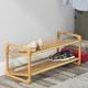 Contemporary Two Tier Bamboo Shoe Rack