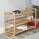 Contemporary Three Tier Bamboo Shoe Rack
